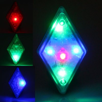 Bicycle Bike 7 - Mode 5 - LED Rhombus Rear Light Tail Warning Safety Lamp for Night Cycling