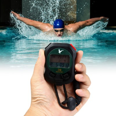 PC930 3 Rows 30 Memories Color LCD Electronic Stopwatch