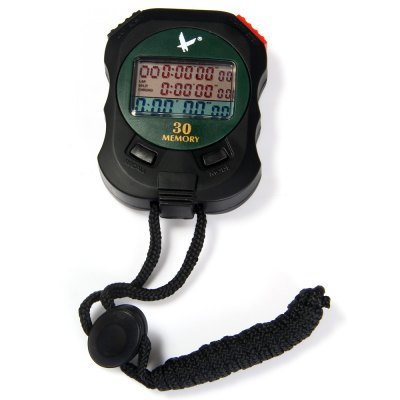 PC930 3 Rows 30 Memories Digital Sport Stopwatch with Color LCD Calendar Alarm Function