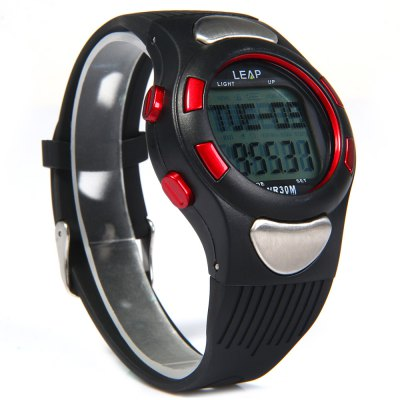 LEAP PC2008 Multi-use Pedometer Heart Rate Monitor Watch Timer Alarm