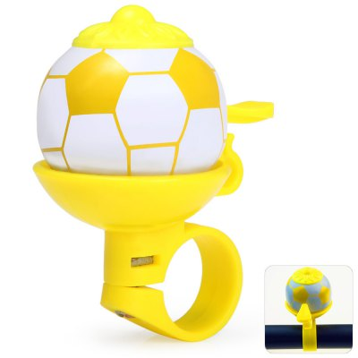Football Shaped Bike Handlebar Bell Ring for Outdoor CyclingBike Bells and Locks<br>Football Shaped Bike Handlebar Bell Ring for Outdoor Cycling<br><br>Type: Bike Bell, Bike Bell, Other Accessories<br>For: Unisex<br>Material: Plastic<br>Functions: Flexible<br>Suitable for : Bike, Road Bike, Mountain Bicycle<br>Color: Blue, Yellow, Black, Red<br> Product weight : 0.024 kg<br>Package weight : 0.05 kg<br>Product size (L x W x H)   : 7 x 6.5 x 3.5 cm / 2.75 x 2.55 x 1.38 inches<br>Package size (L x W x H)  : 8 x 8 x 5 cm / 3.14 x 3.14 x 1.97 inches<br>Package Contents: 1 x Football Shaped Bike Bell