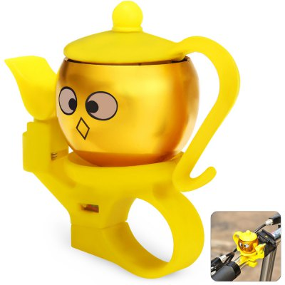 Teapot Shaped Bike Handlebar Bell Ring for Outdoor Cycling