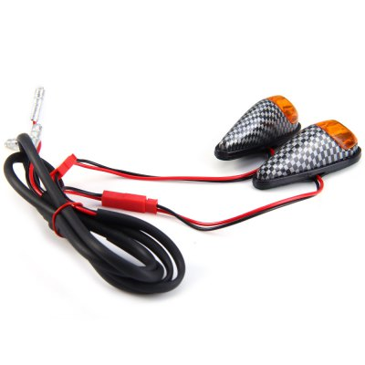 Carbon Fiber 12V 1W LED Turn Signal Light Cornering Lamp Blinker for Motorcycle Motorbike - 2PcsCar Lights<br>Carbon Fiber 12V 1W LED Turn Signal Light Cornering Lamp Blinker for Motorcycle Motorbike - 2Pcs<br><br>Type   : Indicator Light<br>LED/Bulb quantity: 1<br>Feature: Low Power Consumption, Easy to use<br>Emitting color : Yellow<br>Voltage : 12V<br>Material  : Plastic<br>Adaptable automobile mode : Motorcycle / Motorbike<br>Type of lamp-house : LED<br>Apply lamp position: External Lights<br>Product weight   : 0.016 kg<br>Package weight   : 0.050 kg<br>Product size (L x W x H)  : 6 x 2.3 x 2.2 cm / 2.36 x 0.90 x 0.86 inches<br>Package size (L x W x H)  : 15 x 10 x 5 cm / 5.90 x 3.93 x 1.97 inches<br>Package Contents: 2 x Motorcycle Motorbike Turn Signal Light Lamp