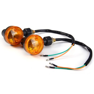 2pcs 12V Motorcycle Turn Signal Indicator Light - Amber Light