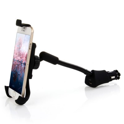 HC53 5V 2.1A USB Car Charger Holder Mount with 360 Degrees Rotation for iPhone 6 Samsung S6 Sony HTC GPS