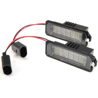 2pcs 12V Number License Plate Lamp with 18 LEDs for VW Golf 4 Eos 06  -  White LightCar Lights<br>2pcs 12V Number License Plate Lamp with 18 LEDs for VW Golf 4 Eos 06  -  White Light<br><br>Model  : JHBK041001<br>Type   : License Plate Lights<br>LED type: SMD 3528<br>LED/Bulb quantity: 18<br>Feature: Low Power Consumption, Easy to use<br>Emitting color : White<br>Color temperature: 6500K<br>Voltage : 12V<br>Type of lamp-house : LED<br>Apply to car brand : Volkswagen<br>Apply lamp position: External Lights<br>Product weight   : 0.044 kg<br>Package weight   : 0.09 kg<br>Product size (L x W x H)  : 7.7 x 2.7 x 2.3 cm / 3.03 x 1.06 x 0.90 inches<br>Package size (L x W x H)  : 11 x 6.5 x 4.5 cm / 4.32 x 2.55 x 1.77 inches<br>Package Contents: 2 x JHBK041001 License Light, 2 x Connecting Line