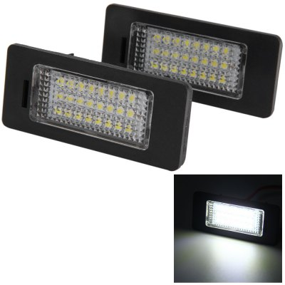 2pcs 12V Number License Plate Lamp with 24 LEDs for AUDI Q5 A4 4D / 5D S5 - White Light