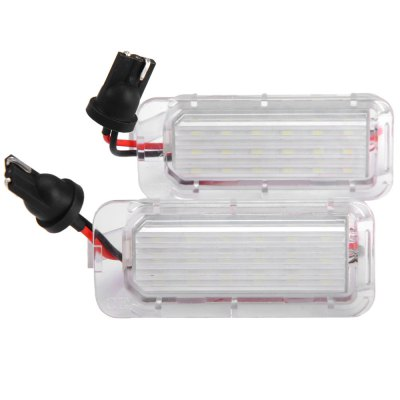 2pcs 12V Number License Plate Lamp with 18 LEDs for Ford Mondeo Focus 5D - White LightCar Lights<br>2pcs 12V Number License Plate Lamp with 18 LEDs for Ford Mondeo Focus 5D - White Light<br><br>Model  : JHBL659001<br>Type   : License Plate Lights<br>LED type: SMD 3528<br>LED/Bulb quantity: 18<br>Feature: Easy to use, Low Power Consumption<br>Light mode: Steady<br>Emitting color : White<br>Voltage : 12V<br>Type of lamp-house : LED<br>Apply to car brand : Ford<br>Apply lamp position: External Lights<br>Product weight   : 0.027 kg<br>Package weight   : 0.07 kg<br>Product size (L x W x H)  : 5.8 x 2.5 x 2 cm / 2.28 x 0.98 x 0.79 inches<br>Package size (L x W x H)  : 11 x 6 x 4.5 cm / 4.32 x 2.36 x 1.77 inches<br>Package Contents: 2 x JHBL659001 License Light
