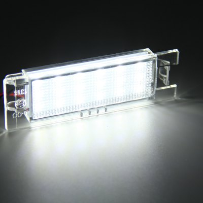 Фотография 2pcs 12V Number License Plate Lamp with 18 LEDs for Opel Zafira Astra Corsa Insignia - White Light