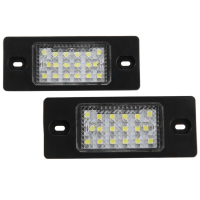 2pcs 12V Number License Plate Lamp with 18 LEDs for Porsche Cayenne VW Touareg Passat - White Light2pcs 12V Number License Plate Lamp with 18 LEDs for Porsche Cayenne VW Touareg Passat - White Light<br><br>Model  : JHK1550001<br>Type   : License Plate Lights<br>LED type: SMD 3528<br>LED/Bulb quantity: 18<br>Feature: Easy to use, Low Power Consumption<br>Light mode: Steady<br>Emitting color : White<br>Voltage : 12V<br>Type of lamp-house : LED<br>Apply to car brand : Porsche, Volkswagen<br>Apply lamp position: External Lights<br>Product weight   : 0.037 kg<br>Package weight   : 0.09 kg<br>Product size (L x W x H)  : 7.8 x 3.1 x 3 cm / 3.07 x 1.22 x 1.18 inches<br>Package size (L x W x H)  : 11 x 6.5 x 4.5 cm / 4.32 x 2.55 x 1.77 inches<br>Package Contents: 2 x JHK1550001 License Light