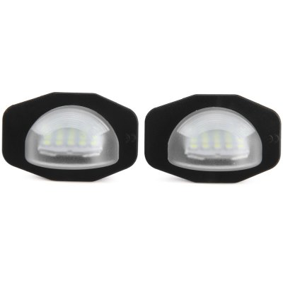 2pcs 12V Number License Plate Lamp with 24 LEDs for Toyota Corolla Alphard Auris Scion Sienna - White Light