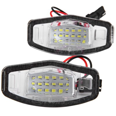 2pcs 12V Number License Plate Lamp with 18 LEDs for Honda Accord 4D Civic Odyssey City 4D - White LightCar Lights<br>2pcs 12V Number License Plate Lamp with 18 LEDs for Honda Accord 4D Civic Odyssey City 4D - White Light<br><br>Model  : JHK1987001<br>Type   : License Plate Lights<br>LED type: SMD 3528<br>LED/Bulb quantity: 18<br>Feature: Easy to use, Low Power Consumption<br>Light mode: Steady<br>Emitting color : White<br>Voltage : 12V<br>Type of lamp-house : LED<br>Apply to car brand : Honda<br>Apply lamp position: External Lights<br>Product weight   : 0.034 kg<br>Package weight   : 0.08 kg<br>Product size (L x W x H)  : 7 x 3.5 x 2.5 cm / 2.75 x 1.38 x 0.98 inches<br>Package size (L x W x H)  : 11 x 6.5 x 4.5 cm / 4.32 x 2.55 x 1.77 inches<br>Package Contents: 2 x JHK1987001 License Light