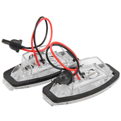 Фотография 2pcs 12V Number License Plate Lamp with 18 LEDs for Honda Accord 4D Civic Odyssey City 4D - White Light