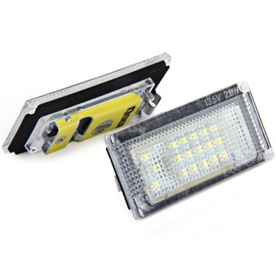 2pcs 12V Number License Plate Lamp with 18 LEDs for BMW MINI COOPER S R50 R52 R53 - White Light2pcs 12V Number License Plate Lamp with 18 LEDs for BMW MINI COOPER S R50 R52 R53 - White Light<br><br>Model  : JHR033B001<br>Type   : License Plate Lights<br>LED type: SMD 3528<br>LED/Bulb quantity: 18<br>Feature: Easy to use, Low Power Consumption<br>Light mode: Steady<br>Emitting color : White<br>Voltage : 12V<br>Type of lamp-house : LED<br>Apply to car brand : BMW<br>Apply lamp position: External Lights<br>Product weight   : 0.036 kg<br>Package weight   : 0.08 kg<br>Product size (L x W x H)  : 7.1 x 3.3 x 1 cm / 2.79 x 1.30 x 0.39 inches<br>Package size (L x W x H)  : 11 x 6.5 x 4.5 cm / 4.32 x 2.55 x 1.77 inches<br>Package Contents: 2 x JHR033B001 License Light