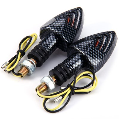 Фотография 2pcs 12V Motorcycle Arrow Shaped Amber Turn Signal Indicator Light
