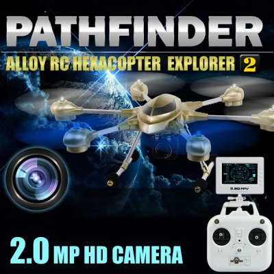 HUAJUN W609  -  7 5.8G FPV Pathfinder 2 6 Axis Gyro 4.5CH 2.4G RC Hexacopter with 2.0MP HD Camera 3D Eversion Aircraft - US Plug