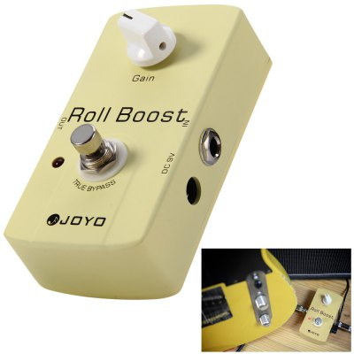 JOYO JF - 38 Aluminum Alloy Material True Bypass Design Electric Guitar Roll Boost Clean Volume Effect Pedal
