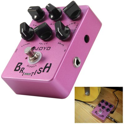 JOYO JF - 16 True Bypass Design British Sound Amp Simulator Electric Guitar Effect Pedal with 6 Adjustable Knobs