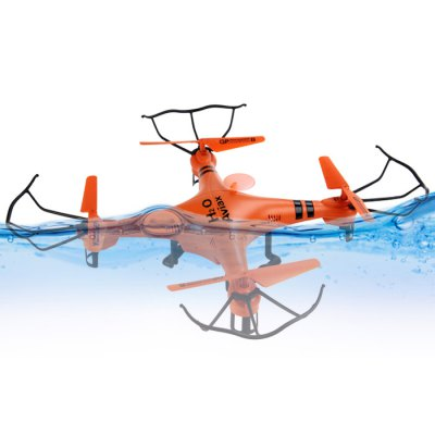 ФОТО Waterproof GPTOYS H2O Aviax 3D Eversion 6 Axis Gyro Headless Mode 2.4GHz 4CH LCD RC Quadcopter