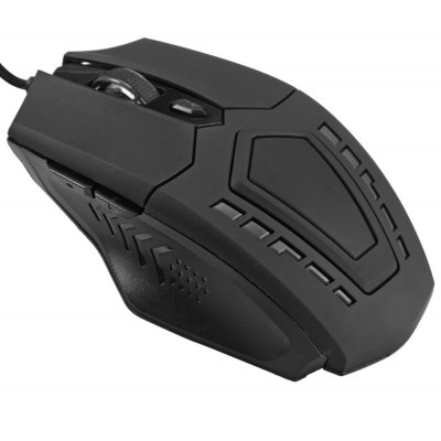 USB Wired Gaming Mouse Six Buttons Support 5500DPI Resolution with LED