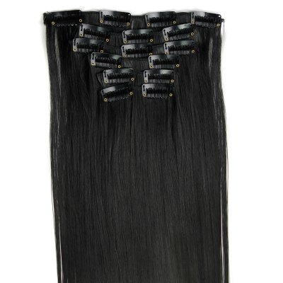 Фотография Trendy Long Straight Clip-In Heat Resistant Synthetic Hair Extension Suit For Women