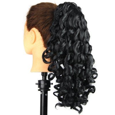 Trendy Long Curly Stylish Capless Heat Resistant Synthetic Ponytail For WomenHair Extensions<br>Trendy Long Curly Stylish Capless Heat Resistant Synthetic Ponytail For Women<br><br>Style: Ponytails<br>Type: Clip-In/On<br>Hairstyling: Curly<br>Fabric: Heat Resistant Synthetic Hair<br>Length: Long<br>Weight: 0.21KG<br>Package Contents: 1 x Ponytail<br>Length Size(Inch): 19