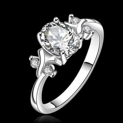 Gorgeos Round Rhiestone Hollow Out Ring For Women