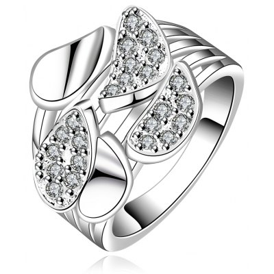 Classic Rhinestone Glitter Hollow Out Women's Ring