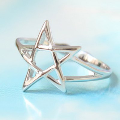 Delicate Solid Color Openwork Five-Pointed Star Shape Cuff Ring For WomenRings<br>Delicate Solid Color Openwork Five-Pointed Star Shape Cuff Ring For Women<br><br>Gender: For Women<br>Metal Type: Silver<br>Style: Trendy<br>Shape/Pattern: Star<br>Weight: 0.06KG<br>Package Contents: 1 x Ring