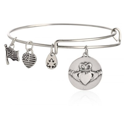 Stylish Crown Pattern Heart Bracelet For Women