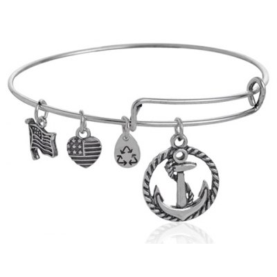 Ethnic Flag Anchor Bracelet For Women