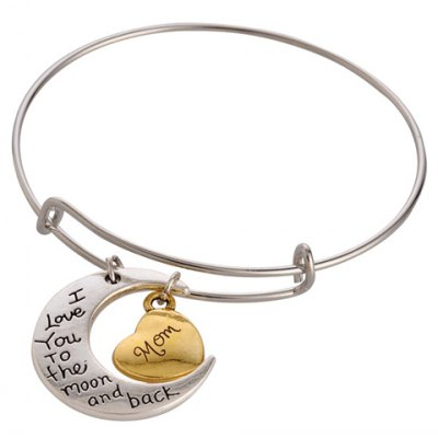 Stylish Printed Heart Moon Bracelet For Women