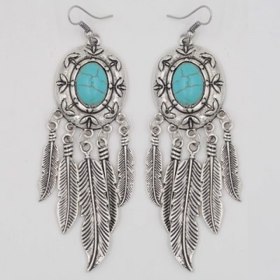 Pair of Retro Beads Feather Drop EarringsEarrings<br>Pair of Retro Beads Feather Drop Earrings<br><br>Earring Type: Drop Earrings<br>Gender: For Women<br>Package Contents: 1 x Earring(Pair)<br>Shape/Pattern: Feather<br>Style: Trendy<br>Weight: 0.05KG