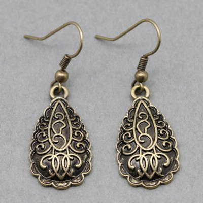 Pair of Retro Classic Drop Earrings For Women