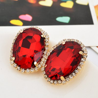 Pair of Retro Style Rhinestoned Oval Shape Earrings For WomenEarrings<br>Pair of Retro Style Rhinestoned Oval Shape Earrings For Women<br><br>Earring Type: Stud Earrings<br>Gender: For Women<br>Material: Rhinestone<br>Style: Classic<br>Shape/Pattern: Geometric<br>Weight: 0.06KG<br>Package Contents: 1 x Earring(Pair)