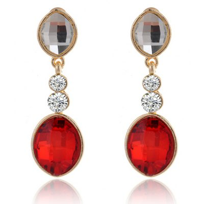 Pair of Delicate Rhinestone Embellished Oval Shape Womens EarringsEarrings<br>Pair of Delicate Rhinestone Embellished Oval Shape Womens Earrings<br><br>Earring Type: Drop Earrings<br>Gender: For Women<br>Material: Rhinestone<br>Style: Trendy<br>Shape/Pattern: Geometric<br>Weight: 0.06KG<br>Package Contents: 1 x Earring(Pair)