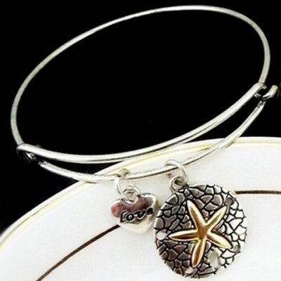 Stylish Heart Starfish Pattern Bracelet For Women