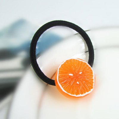 Cute Orange Fruit Elastic Hair Band For Women