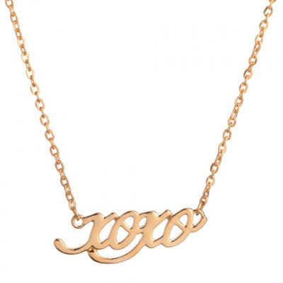 Chic Hollow Letter Pendant Necklace For Women