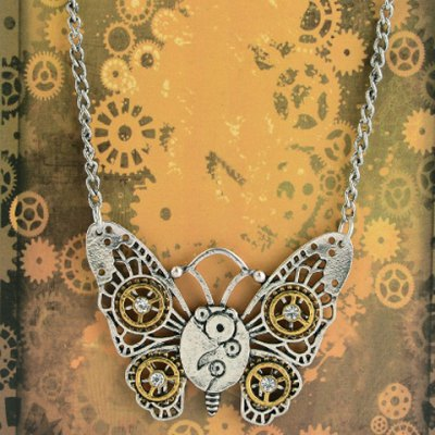 Classic Butterfly Pendant Necklace For Women