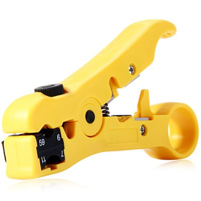WLXY 505 Professional Wire Stripper / Cutter for Coaxial RG6 / RG59 / RG7 / RG11 Cable