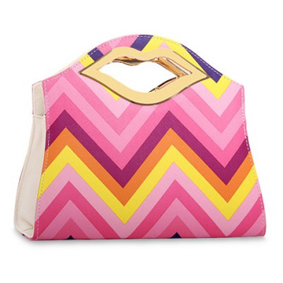 Colorful Striped Tote Bag For Women