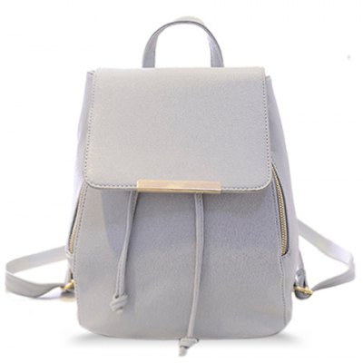 Concise String and PU Leather Design Women's Satchel