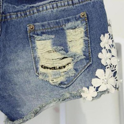 Stylish Appliques Design Women's Shorts от GearBest.com INT