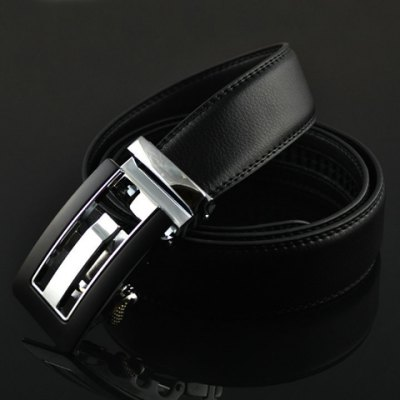 Stylish Hollow Out and Color Block Design Buckle Belt For Men