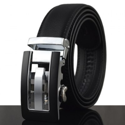 Hollow Out and Color Block Design Buckle Belt For Men