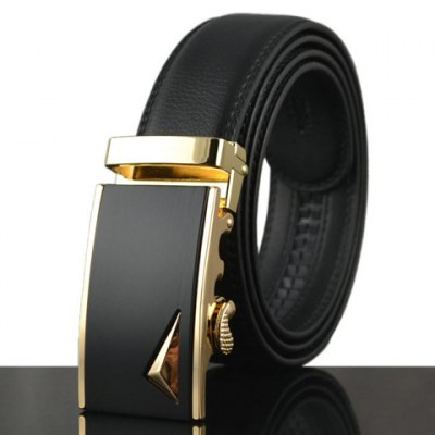 Stereo Triangle Shape Alloy Embellished Faux Leather Belt For Men