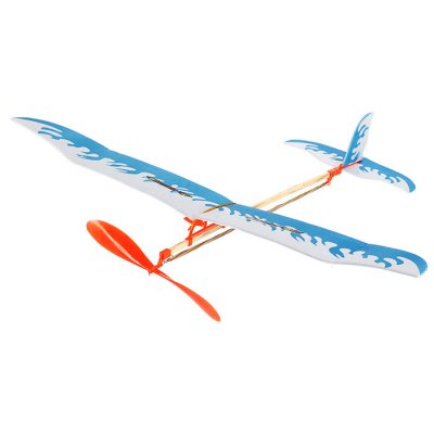DIY Rubber Band Powered Glider Inertial Plane Puzzling Toy