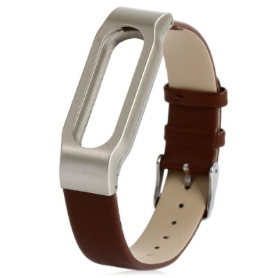 Leather Watch Band Anti-lost Design Strap for Xiaomi Miband 1 / 1S
