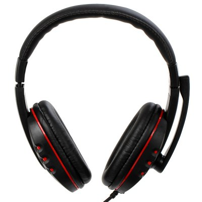 Luxurious Experience HIFI Stereo PS3 and PC Game Headset USB Wired Headband with MIC